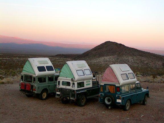 Pop-up tents.