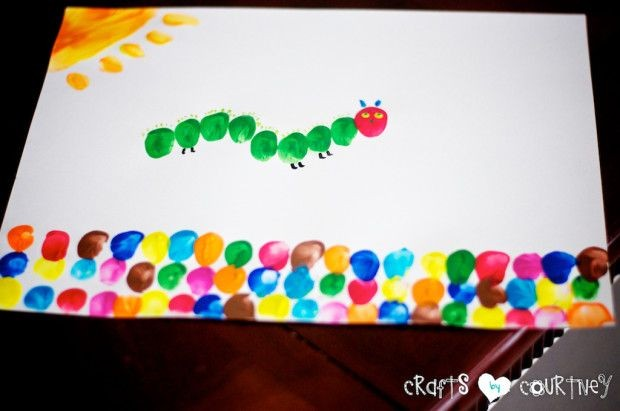 "Make ""The Very Hungry Caterpillar"" Inspired Finger..."