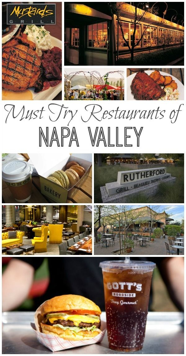 Best Restaurants of Napa Valley #dinecalifornia #a...