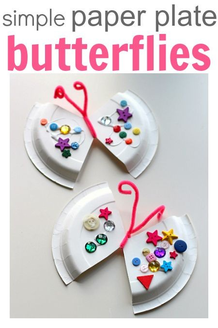 Simple Paper Plate Butterflies (pinned by Super Si...