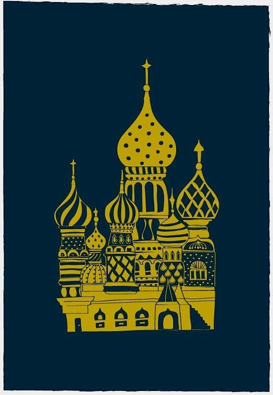 Lovely Onion Palace / Navy by dekanimal on Etsy