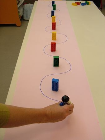 Clever fine motor activity! Draw around the obstac...