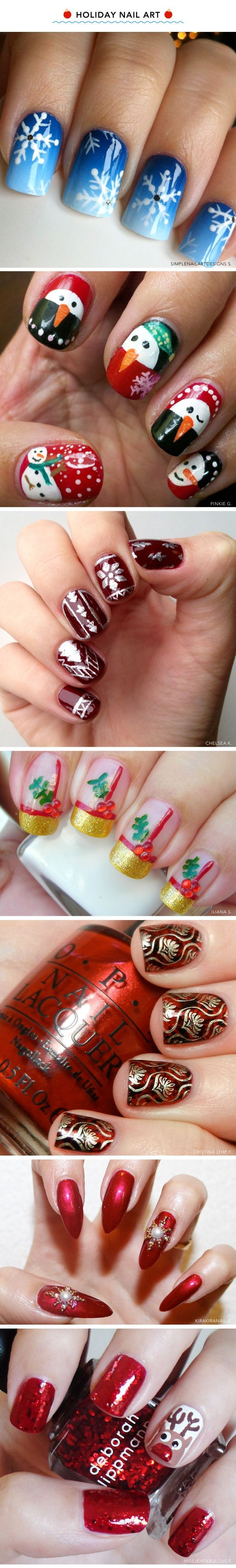 7 Santa-Approved Christmas Manicures that I would...