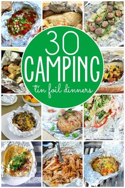 Foil dinner recipes. A camping classic! #campfood...