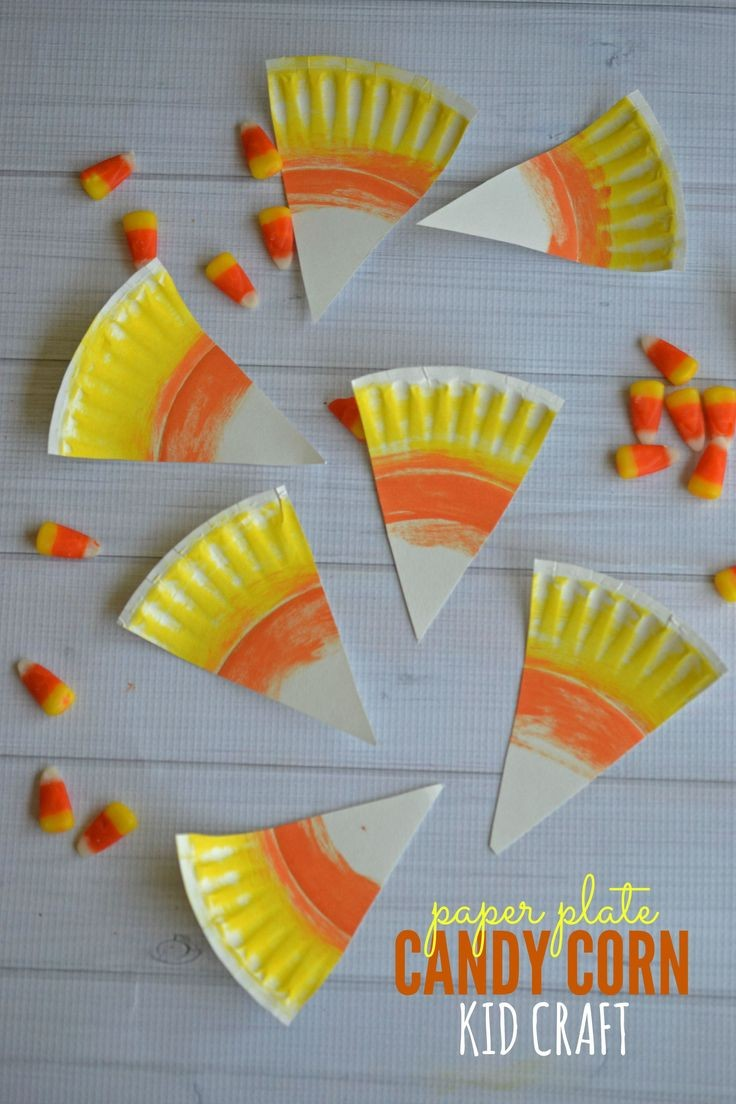 Paper Plate Candy Corn Kid Craft | Happy Crafting...