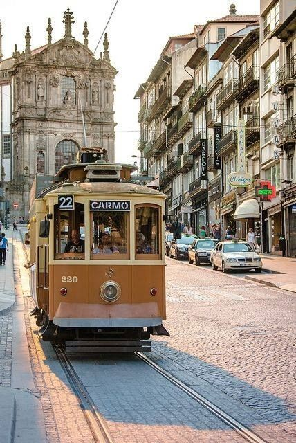 Porto, #Portugal - crossing the old districts by t...
