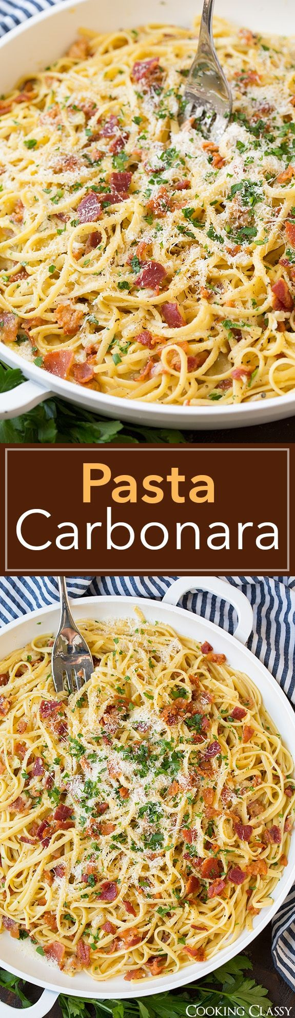 Pasta Carbonara - this is the BEST Pasta Carbonara...