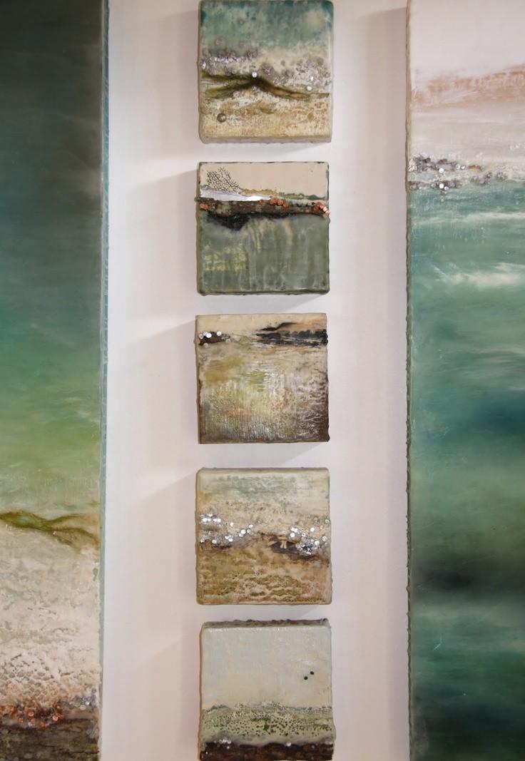 """Robin Luciano Beaty - Encaustic sea scape; """"Above..."""