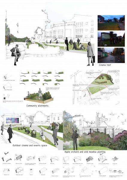 Landscape Design Idea - Architectural drawing / re...