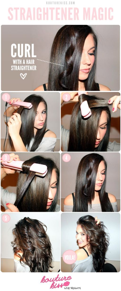 1 512x1228 how to curl your hair with a straighten...