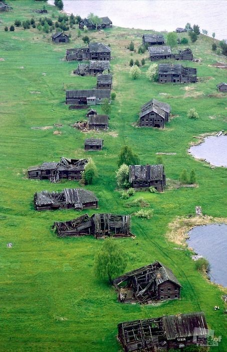 The village of Pegrema, Republic of Karelia, Russi...