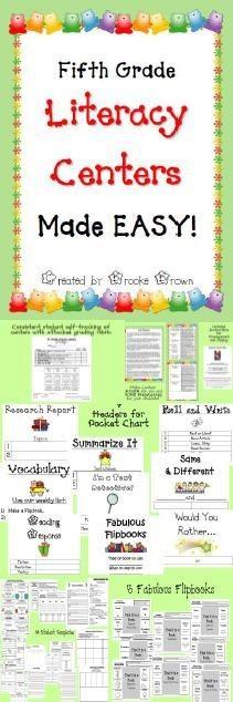 Brand new Common Core aligned Fifth Grade Literacy...