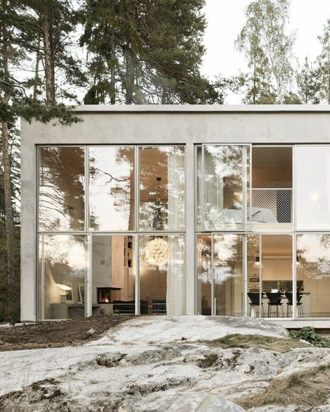 Imagine living in this stunning Swedish woodland h...