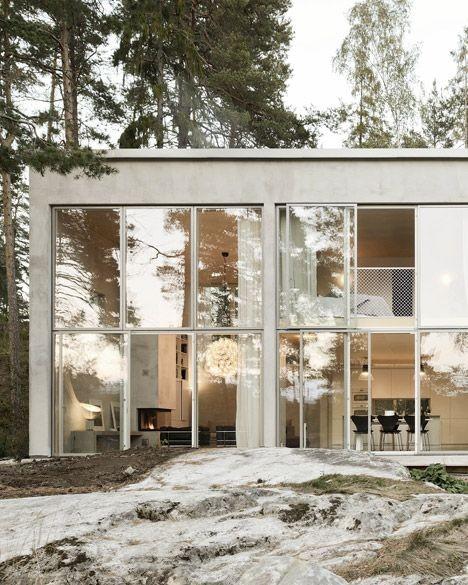 Imagine living in this stunning Swedish woodland h...