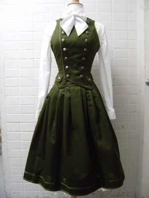 A military lolita outfit. I am a sucker for cravat...