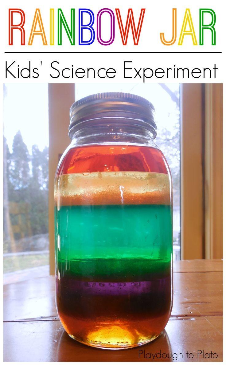 Science for kids, kids science, rainbow jar, make...
