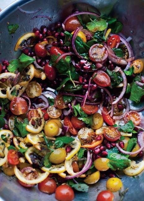 This Tomato and Roasted Lemon Salad from Ottolengh...