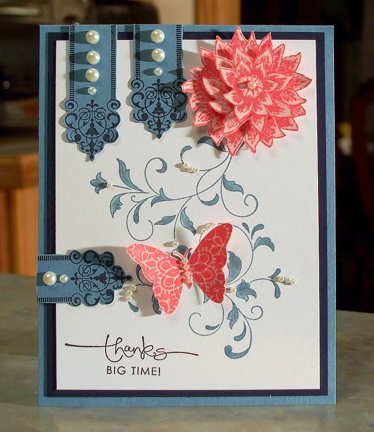 Stampin Up CREATIVE ELEMENTS, Thank You Card. via...