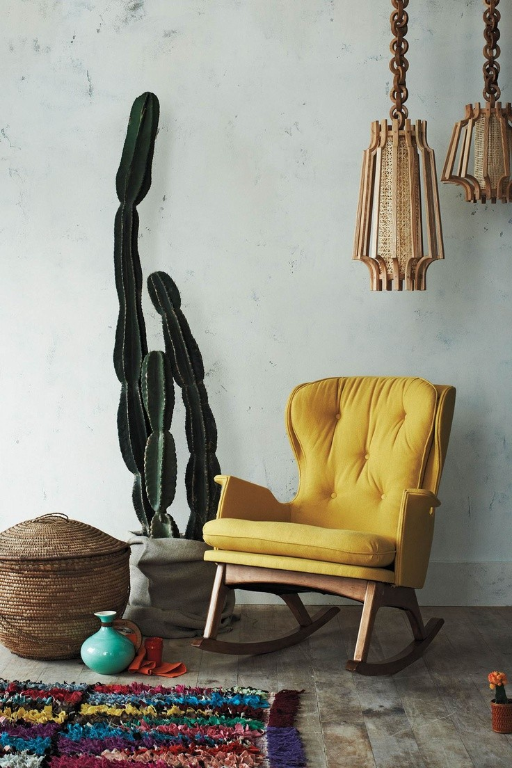 Love this yellow rocking chair - makes me think I...