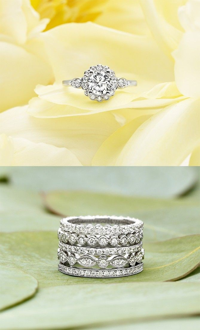Stack these rings to make a one of a kind stunning...