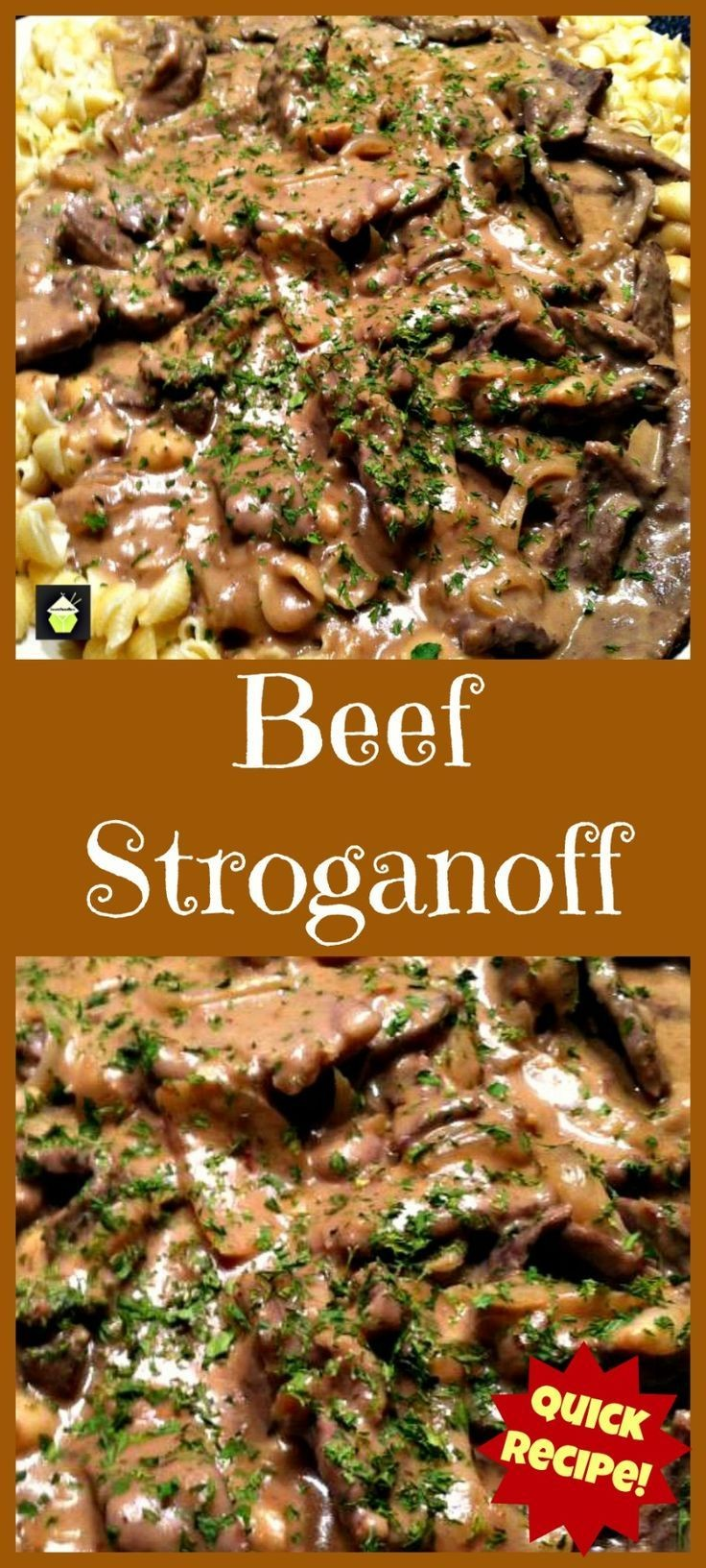 Beef Stroganoff. Quick and Easy dinner with a grea...
