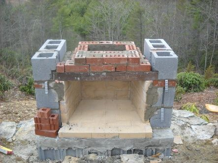 how to build outdoor fireplace
