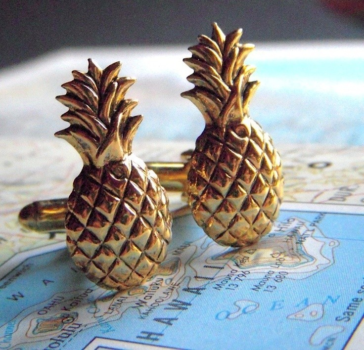 Pineapple Cufflinks Vintage Inspired Gothic Victor...