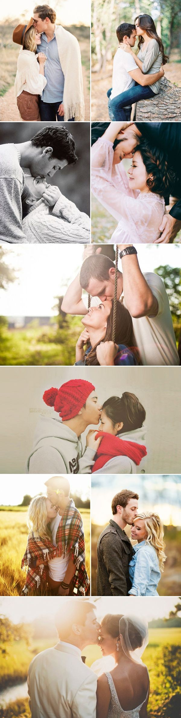 37 Must Try Cute Couple Photo Poses - The Forehead...
