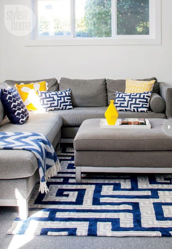blue, gray and yellow colour palette