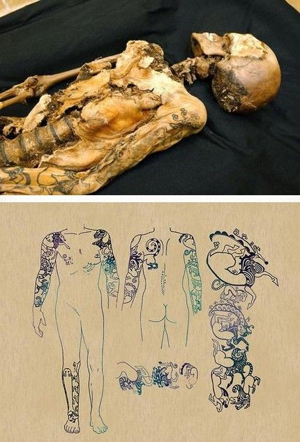 The 2500-year-old mummified body of the young woma...