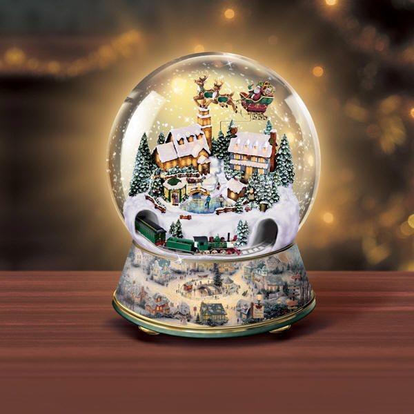 Musical Snow Globes With Light Thomas Kinkade Snow