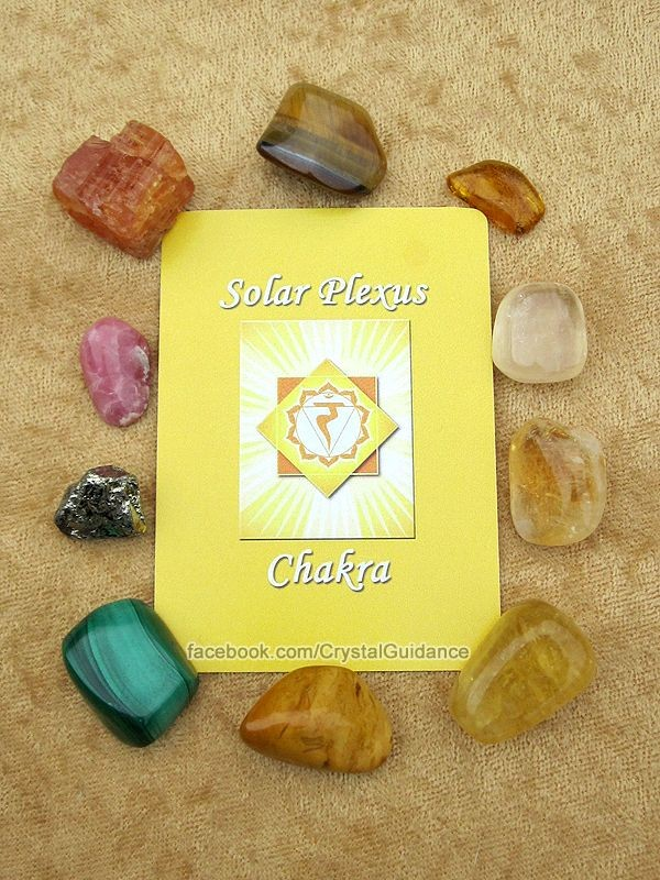 SOLAR PLEXUS CHAKRA CRYSTALS (listed clockwise sta...
