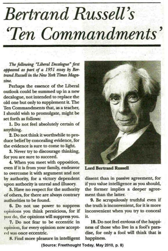 The Thinker's Manifesto: Bertrand Russell's Ten Co...