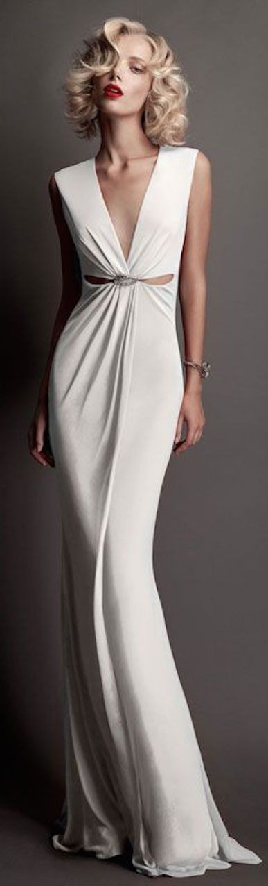 white gown | You can found this at => http://fe...
