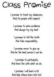 I like this class promise. Read everyday at the en...
