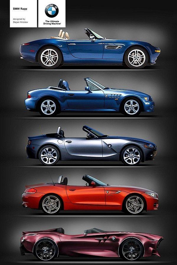 BMW Rapp Anniversary Concept. Z8, Z3, Z4 (E85), Z4...