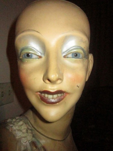 BIZARRE EARLY 20TH C LIFE SIZE FEMALE MANNEQUIN RE...