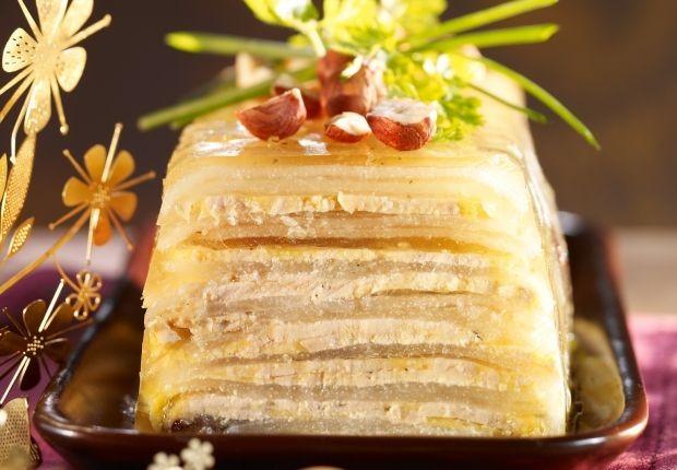 La terrine de foie gras aux pommes
