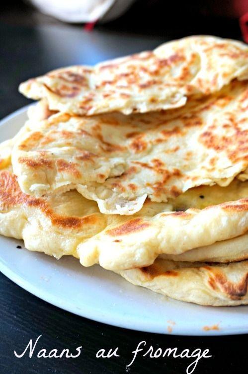 Une recette de naan au fromage fin, moelleux, gonf...