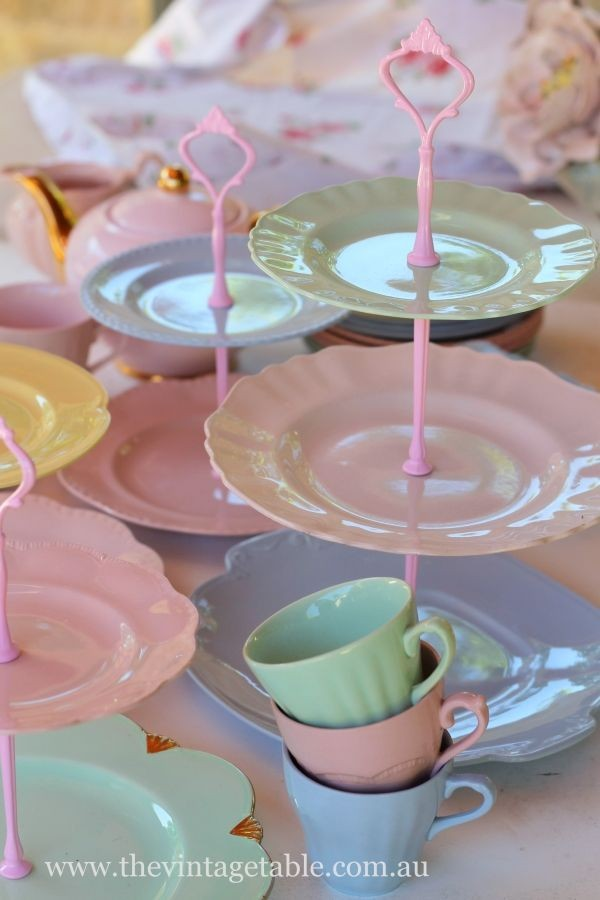 Retro Harlequin Cake Stands & Tea Sets