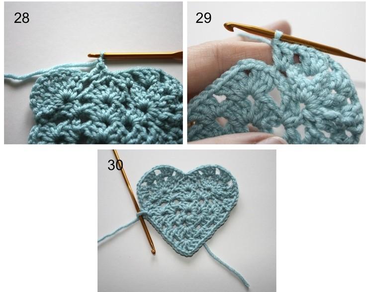 How to Crochet a Granny Heart - Tutorial ❥T...