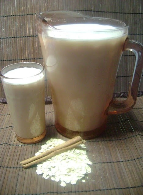 Agua de Avena (oatmeal water)- this is delicious!...