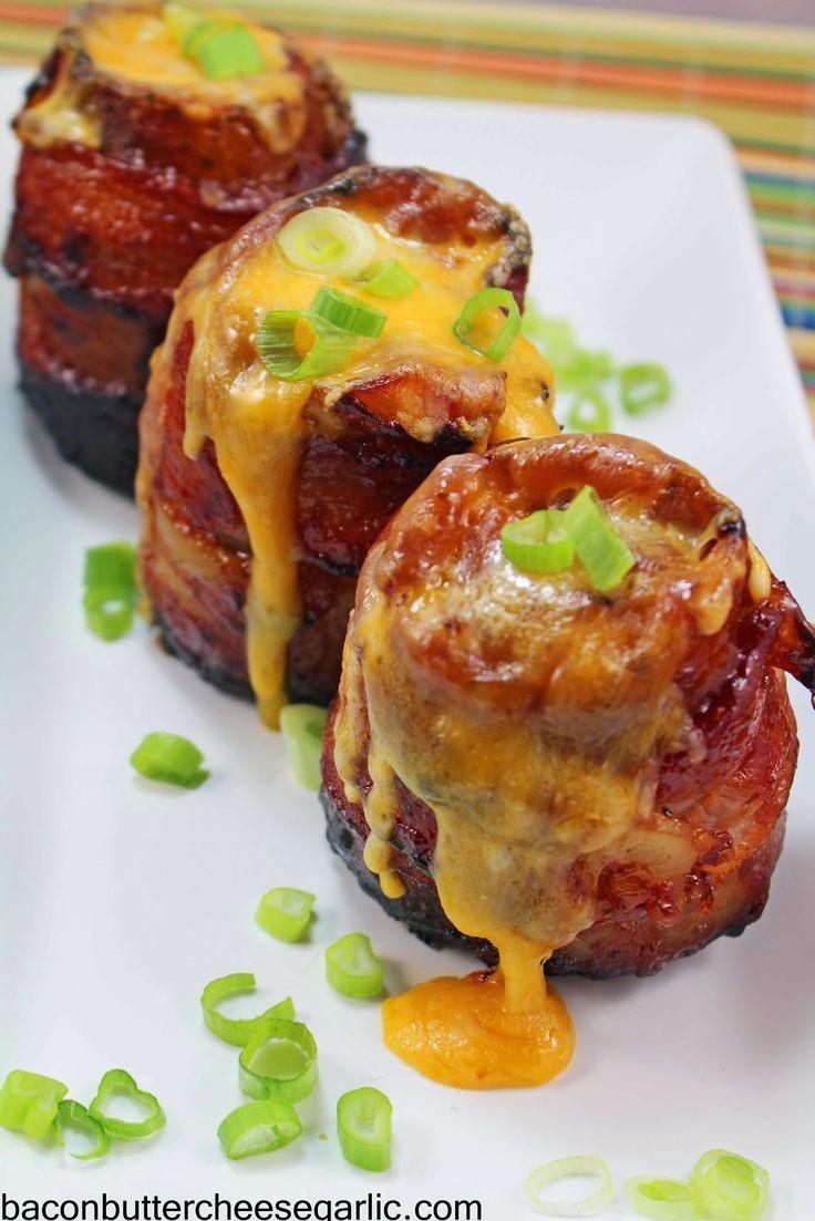 Bacon, Butter, Cheese & Garlic: Volcano Potato...