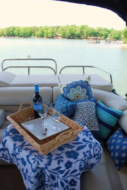 Pontoon Picnic (Home is where the boat is we are s...