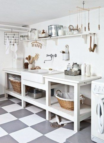 Laundry room ideas!  I like the utility of this on...