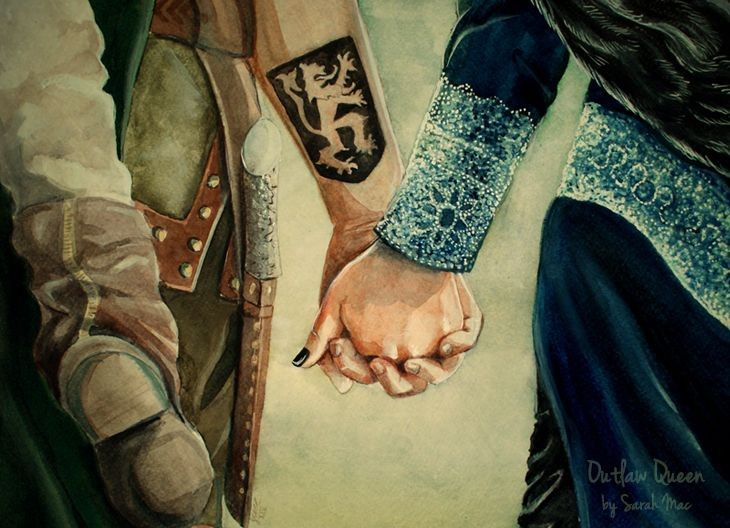 outlaw queen once upon a time regina mills and robin hood roland