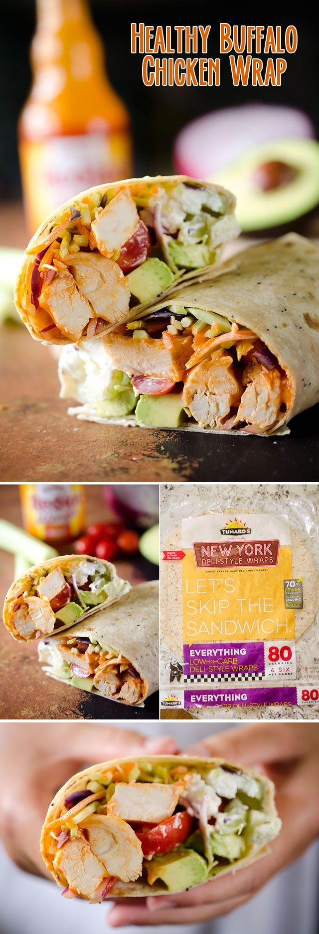 Healthy Buffalo Chicken Wrap - A light and healthy...