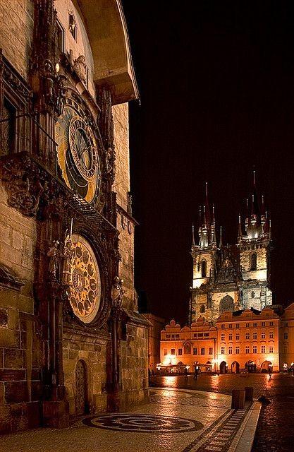 Prague Astronomical Clock Old Time Square, Czech R...