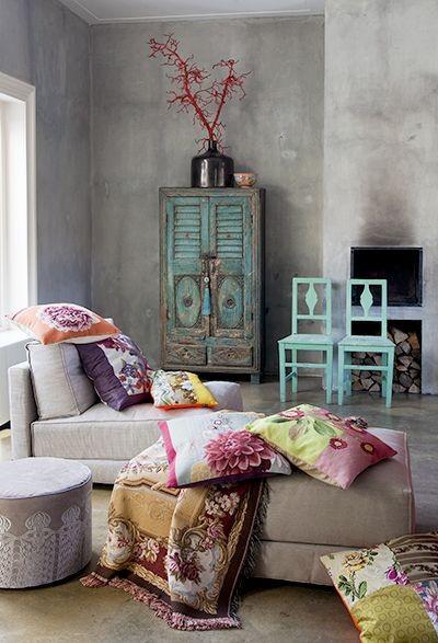 mooie kleuren! mijn keukenpallet, pastels en beton...