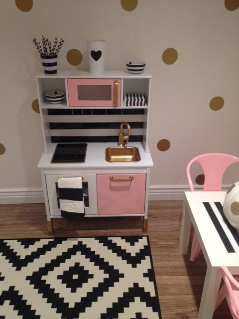 Custom Painted Ikea Childrens Kitchen- Made to Ord...